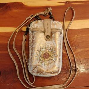 SOLD Sakroots Rose Gold Spirit Desert Wristlet